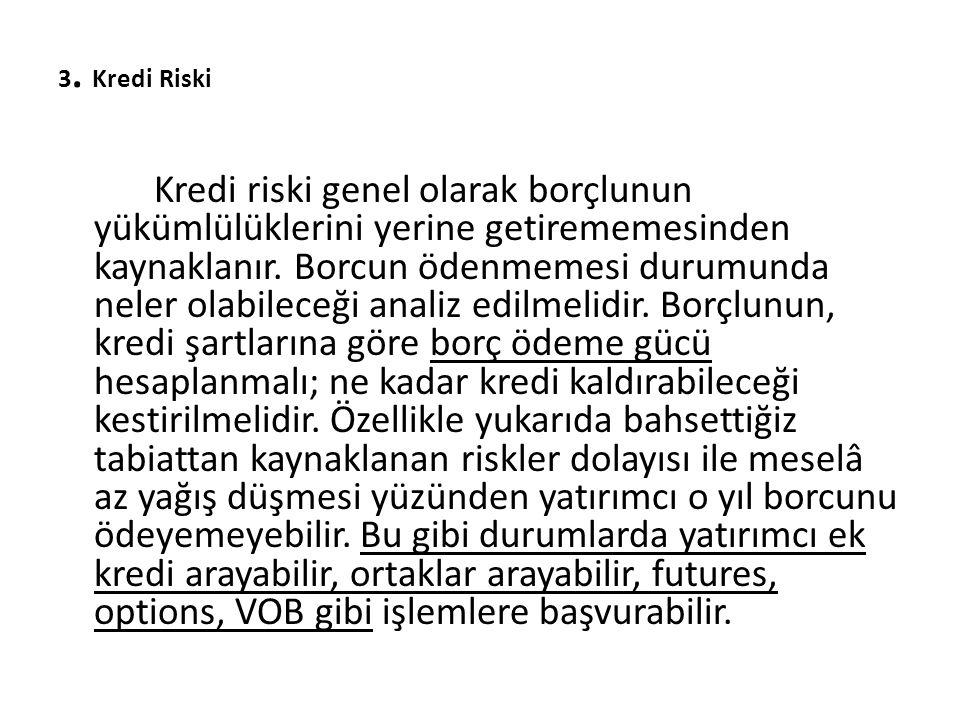 3. Kredi Riski