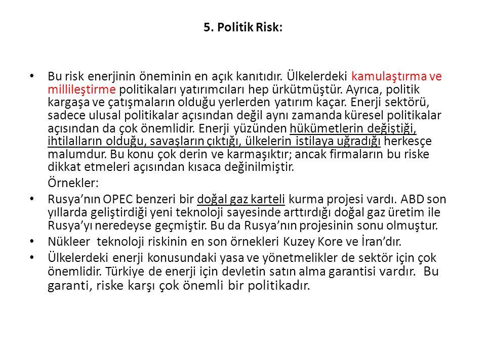5. Politik Risk: