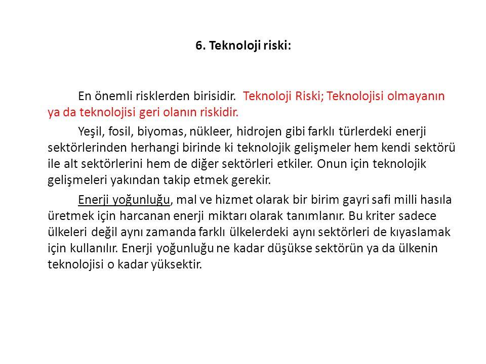 6. Teknoloji riski: