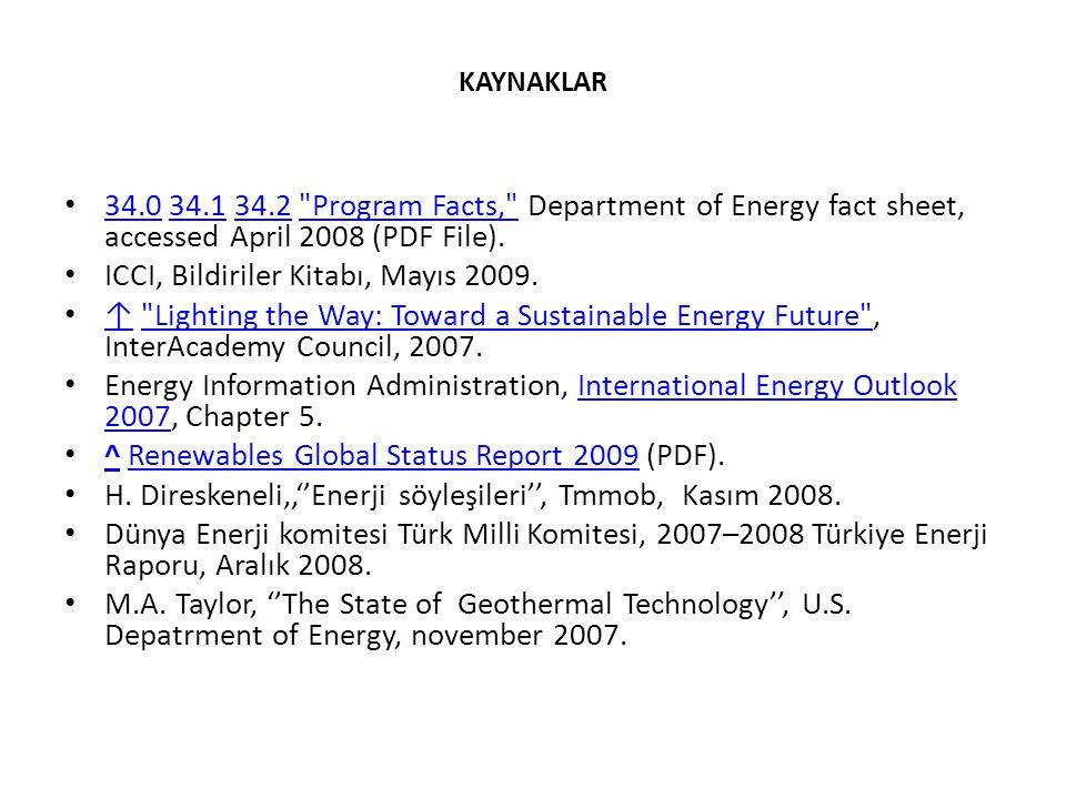 ICCI, Bildiriler Kitabı, Mayıs 2009.
