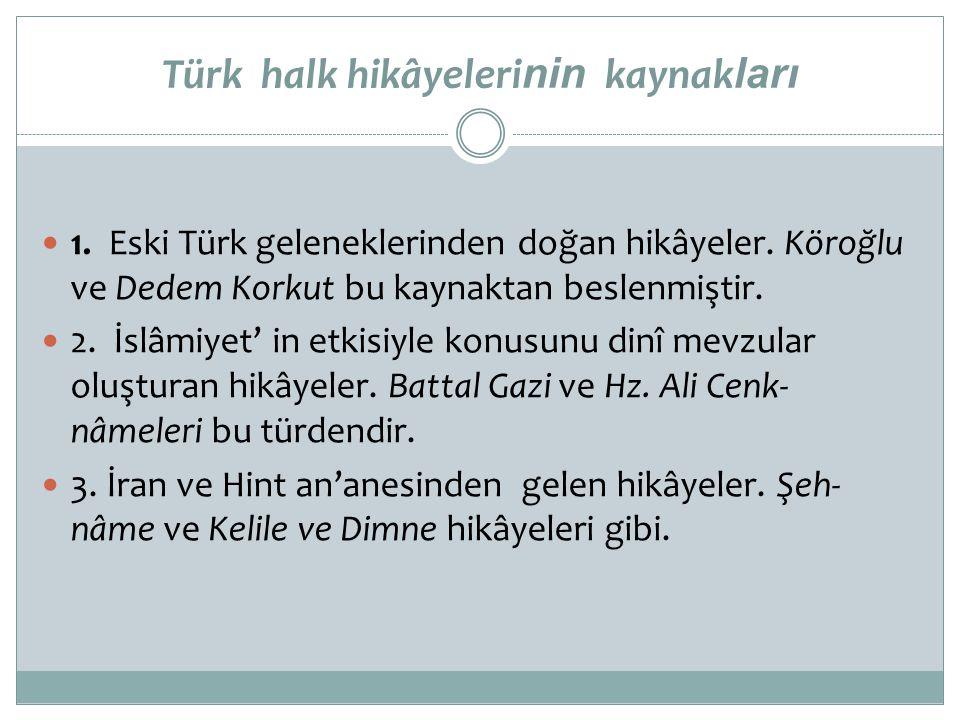 Türk halk hikâyelerinin kaynakları
