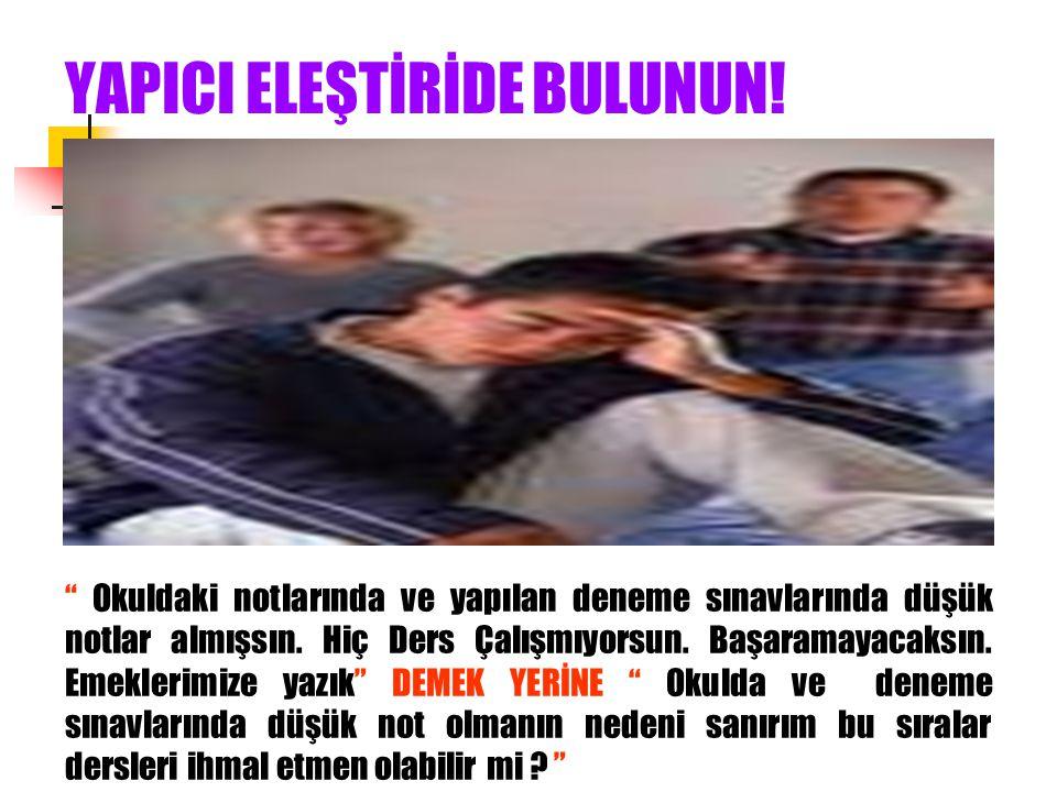 YAPICI ELEŞTİRİDE BULUNUN!
