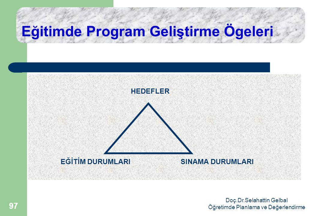 Eğitimde Program Geliştirme Ögeleri