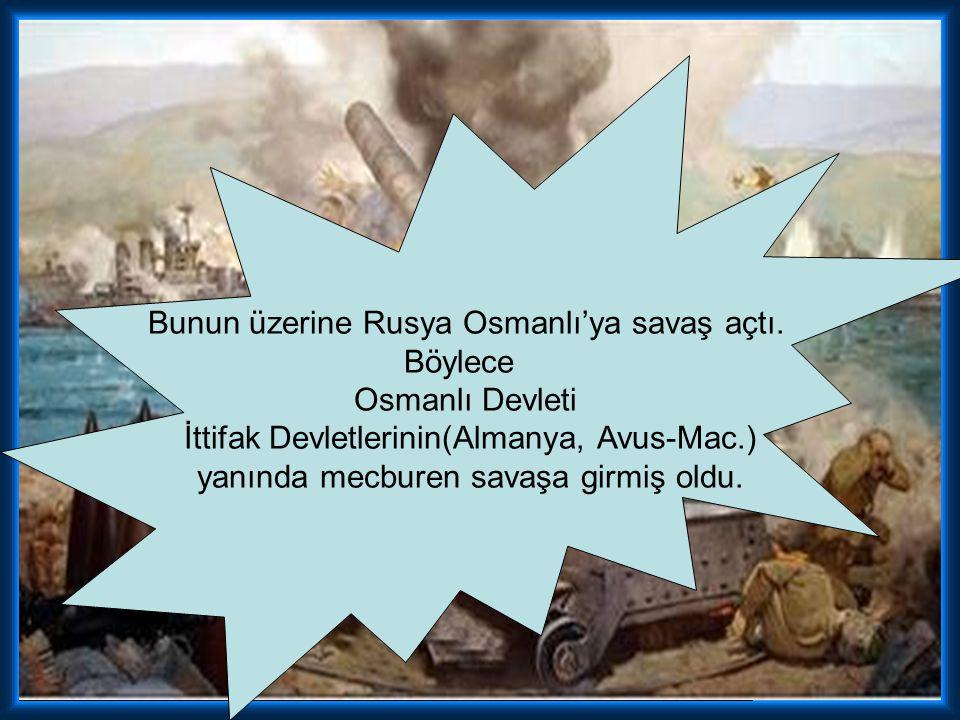 Bunun üzerine Rusya Osmanlı'ya savaş açtı.
