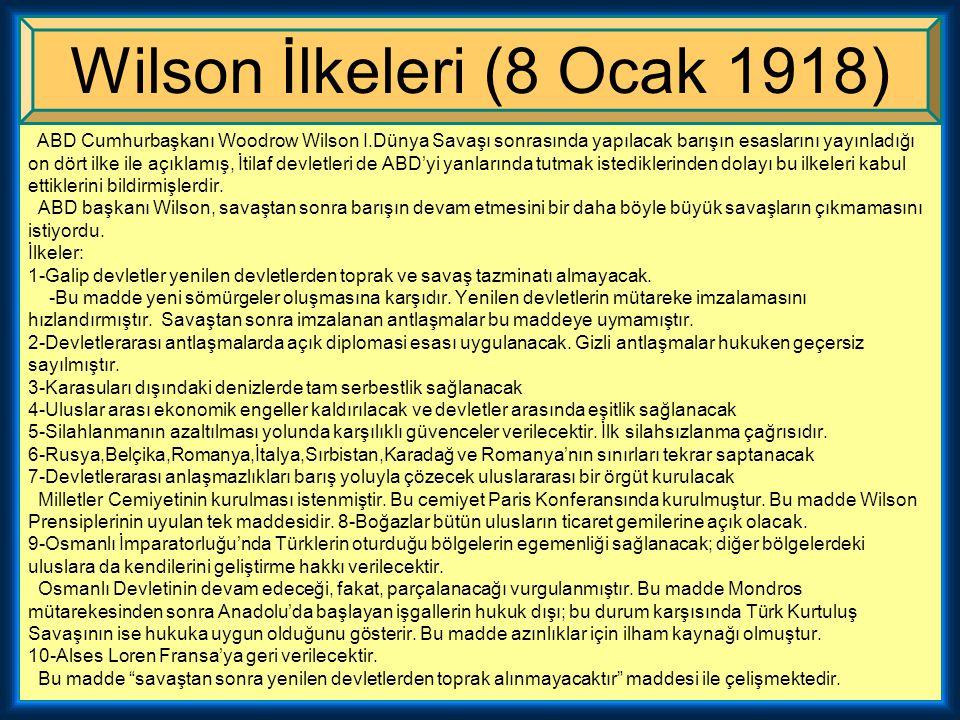 Wilson İlkeleri (8 Ocak 1918)
