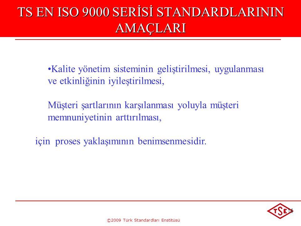TS EN ISO 9000 SERİSİ STANDARDLARININ AMAÇLARI