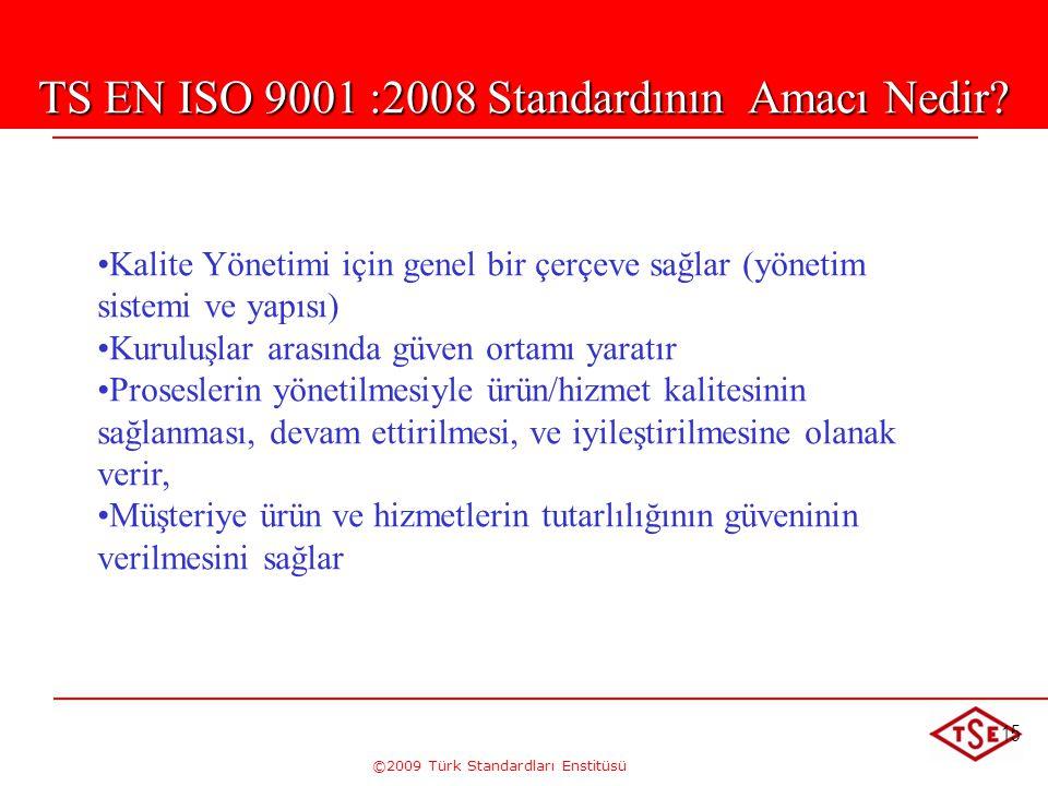 TS EN ISO 9001 :2008 Standardının Amacı Nedir