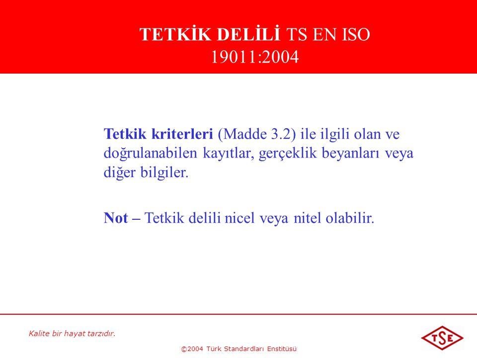 TETKİK DELİLİ TS EN ISO 19011:2004