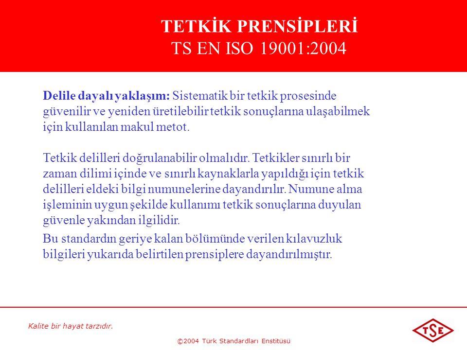 TETKİK PRENSİPLERİ TS EN ISO 19001:2004