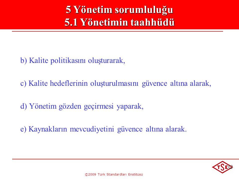 5. Yönetim Sorumluluğu 5.1. Yönetimin Taahhütü