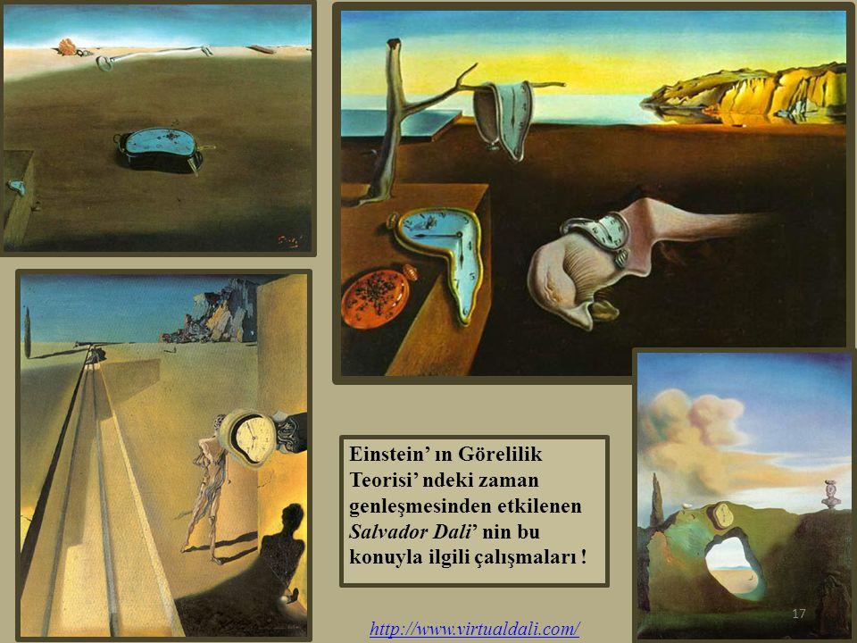 Einstein' ın Görelilik Teorisi' ndeki zaman genleşmesinden etkilenen Salvador Dali' nin bu konuyla ilgili çalışmaları !
