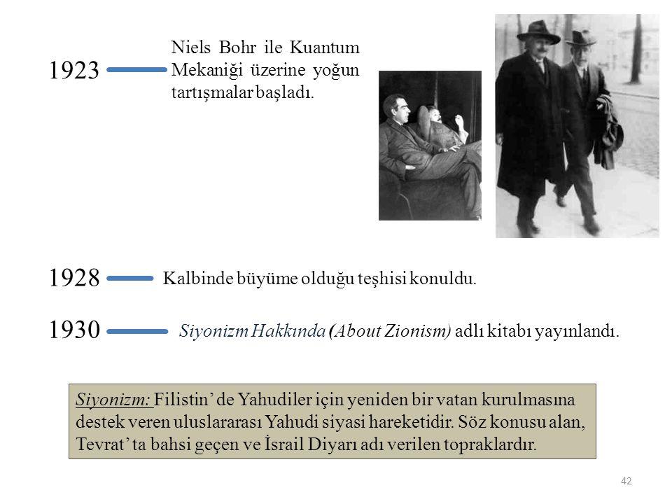 Niels Bohr ile Kuantum Mekaniği üzerine yoğun tartışmalar başladı.