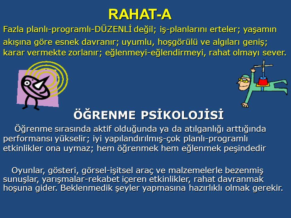 RAHAT-A ÖĞRENME PSİKOLOJİSİ