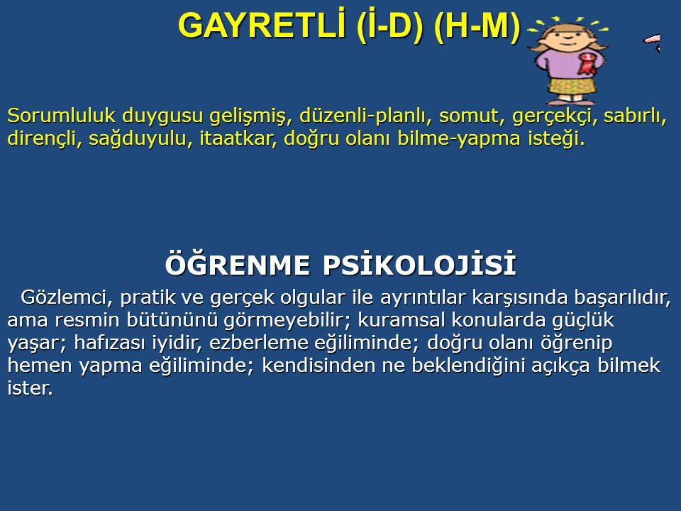 GAYRETLİ (İ-D) (H-M) ÖĞRENME PSİKOLOJİSİ