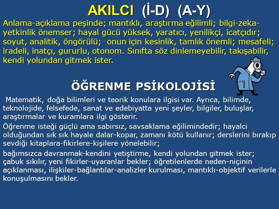 AKILCI (İ-D) (A-Y) ÖĞRENME PSİKOLOJİSİ