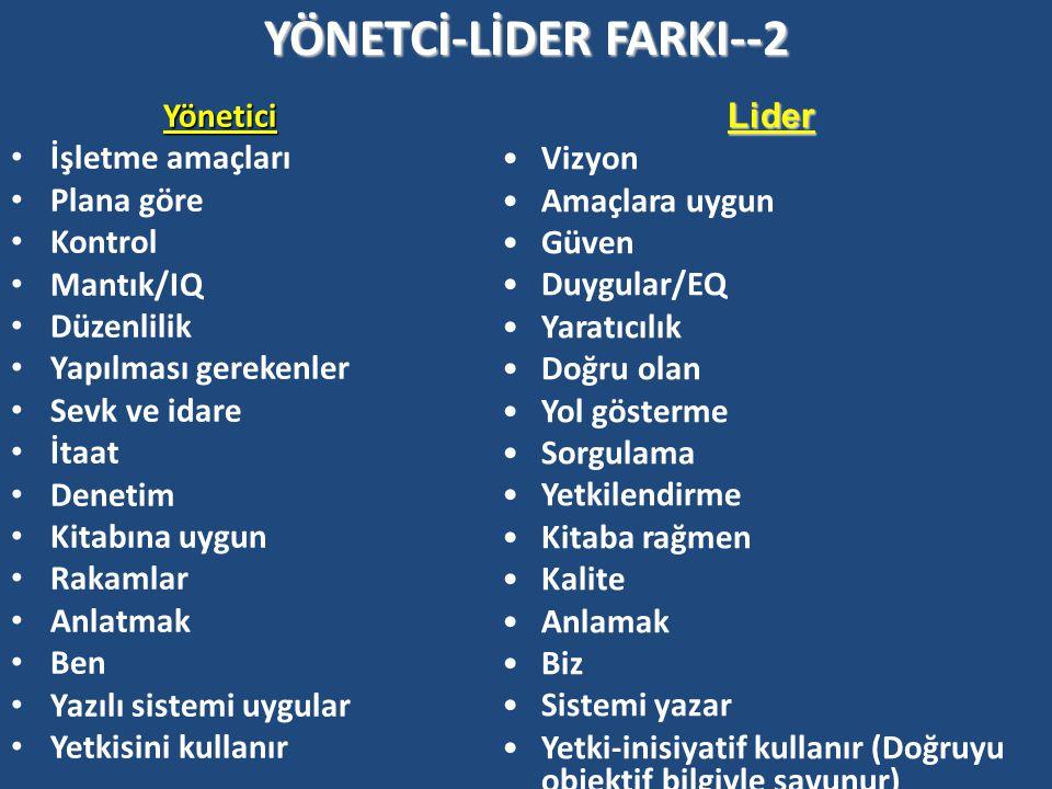 YÖNETCİ-LİDER FARKI--2