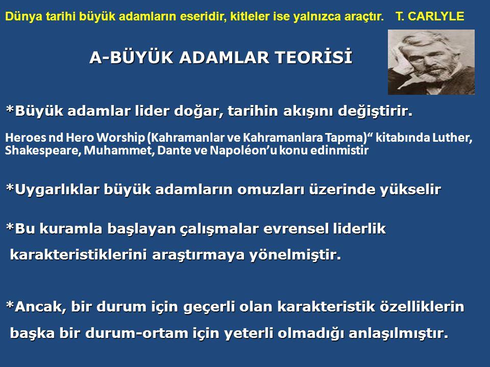 A-BÜYÜK ADAMLAR TEORİSİ