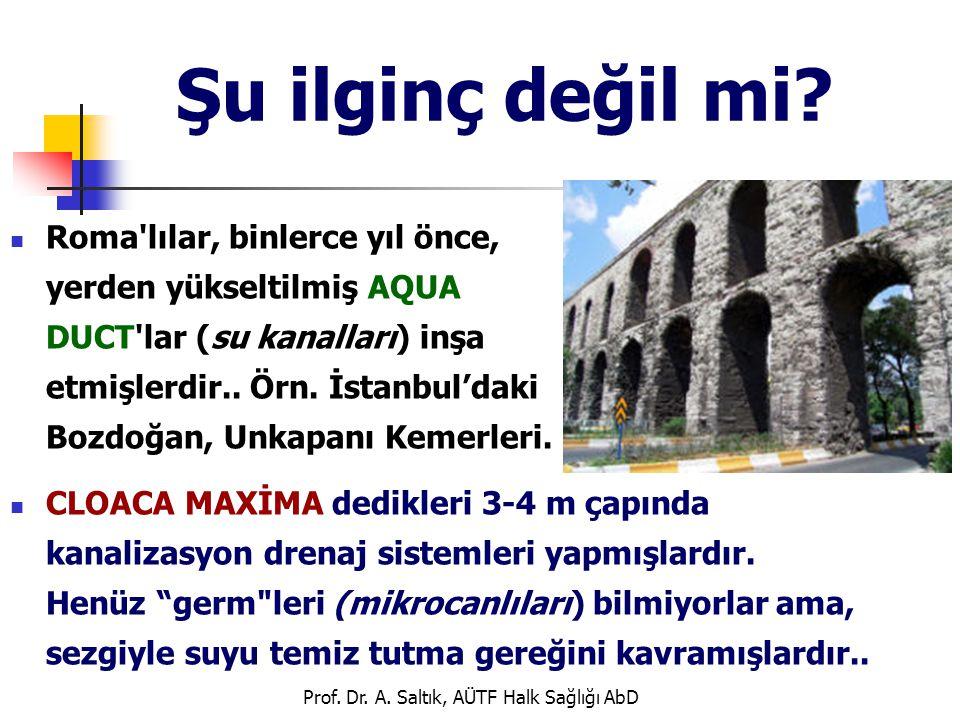 Prof. Dr. A. Saltık, AÜTF Halk Sağlığı AbD