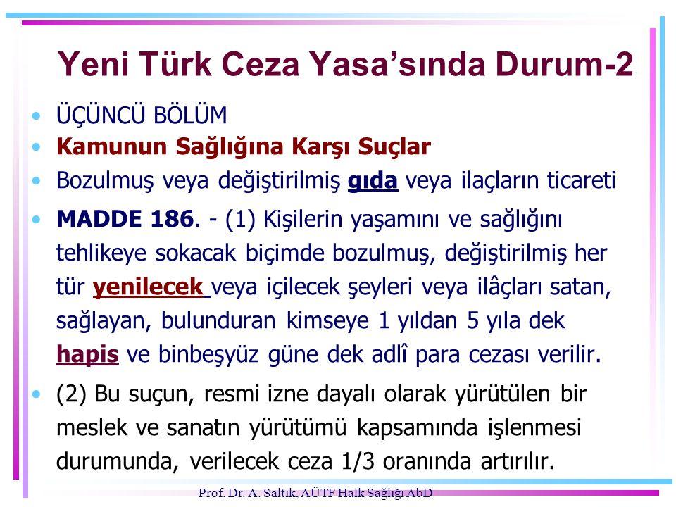 Yeni Türk Ceza Yasa'sında Durum-2