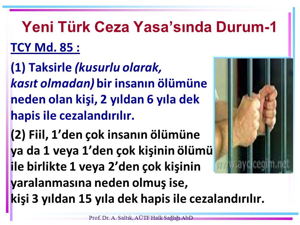 Yeni Türk Ceza Yasa'sında Durum-1