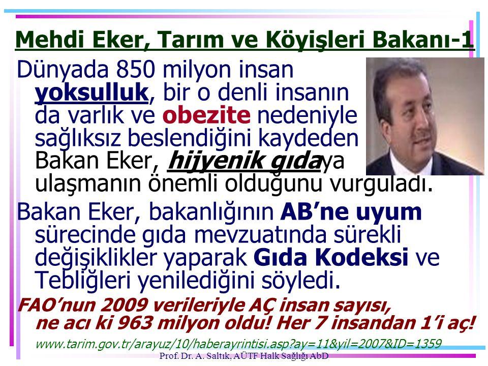 Mehdi Eker, Tarım ve Köyişleri Bakanı-1