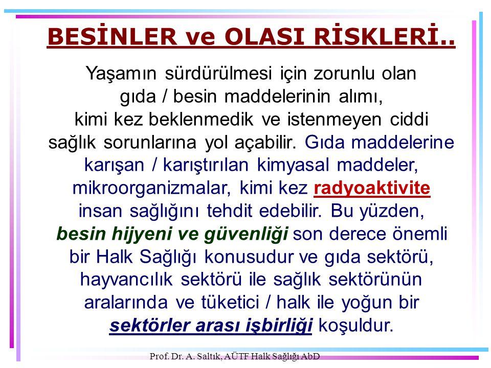 BESİNLER ve OLASI RİSKLERİ..
