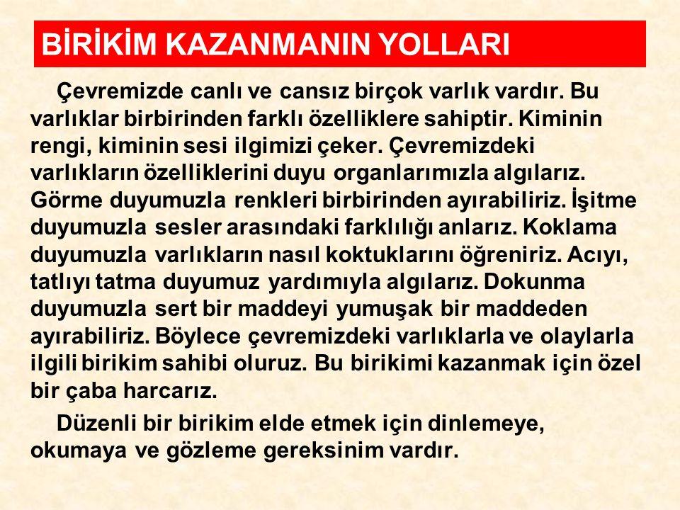 BİRİKİM KAZANMANIN YOLLARI