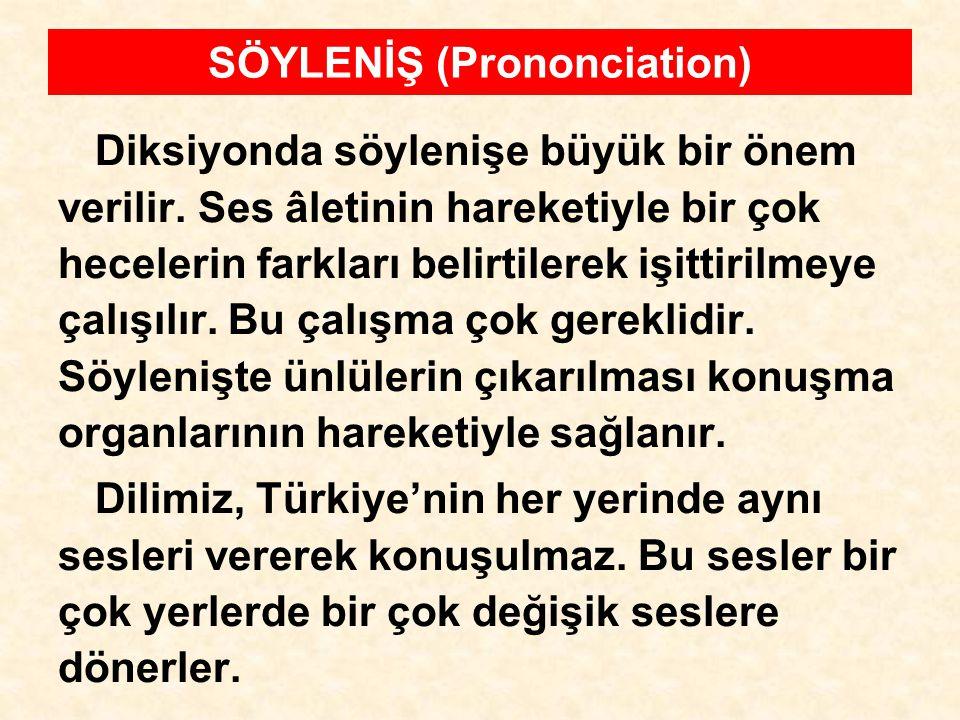SÖYLENİŞ (Prononciation)