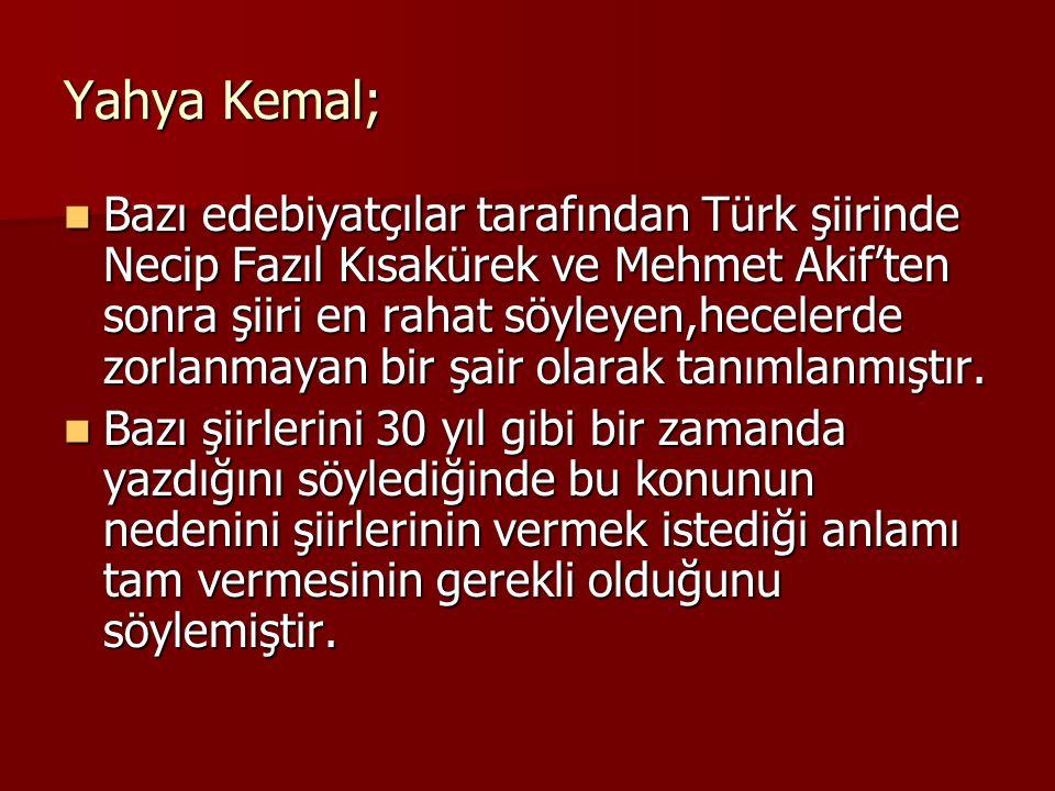 Yahya Kemal;