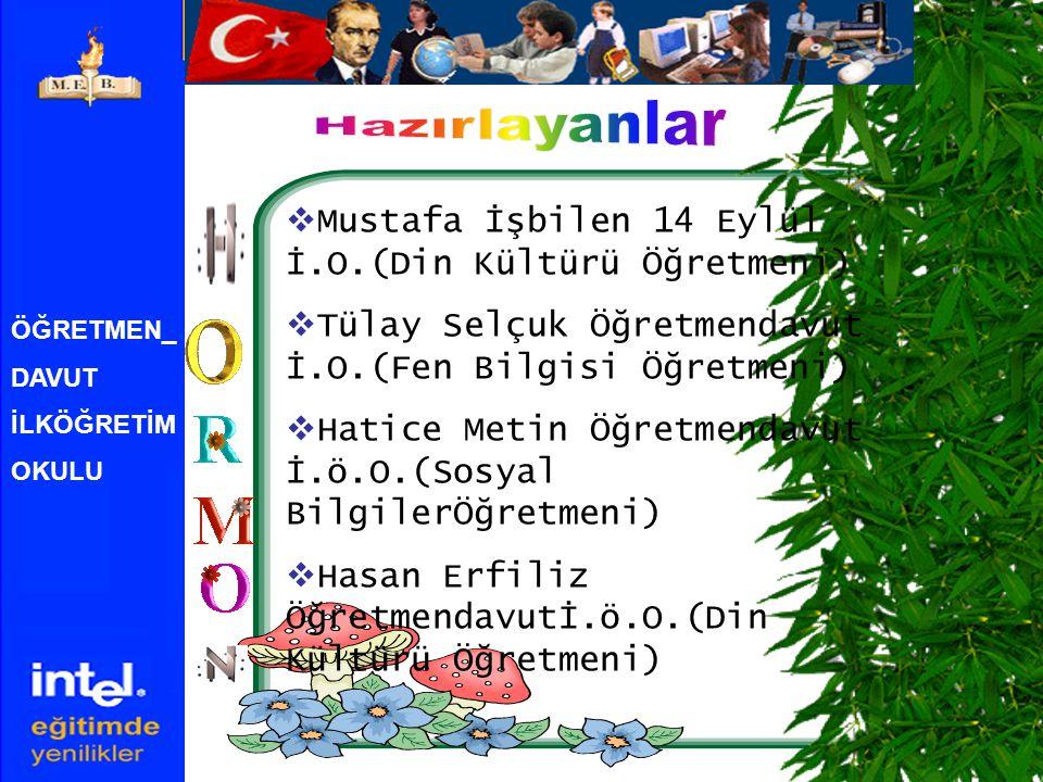 Hazırlayanlar Mustafa İşbilen 14 Eylül İ.O.(Din Kültürü Öğretmeni)