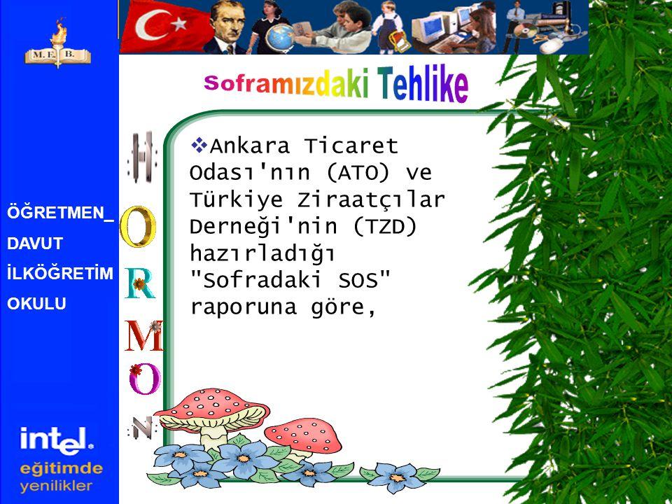 Soframızdaki Tehlike Ankara Ticaret Odası nın (ATO) ve Türkiye Ziraatçılar Derneği nin (TZD) hazırladığı Sofradaki SOS raporuna göre,