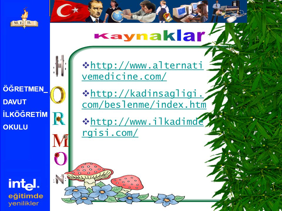 Kaynaklar http://www.alternativemedicine.com/