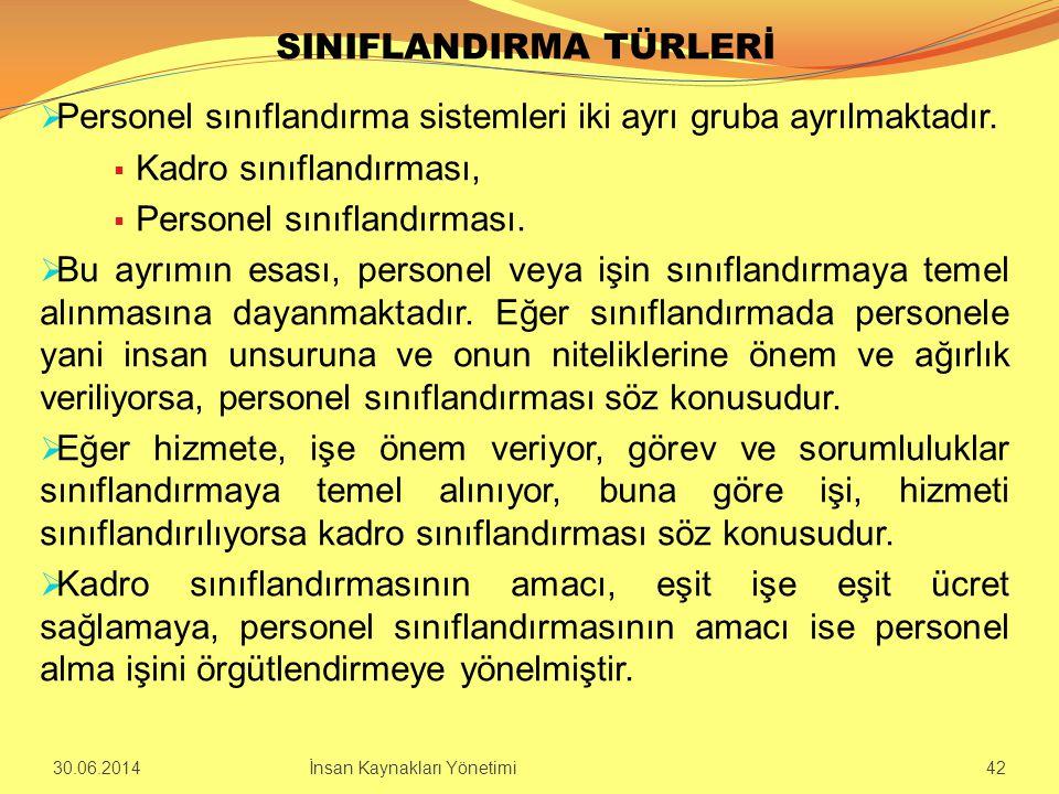 SINIFLANDIRMA TÜRLERİ
