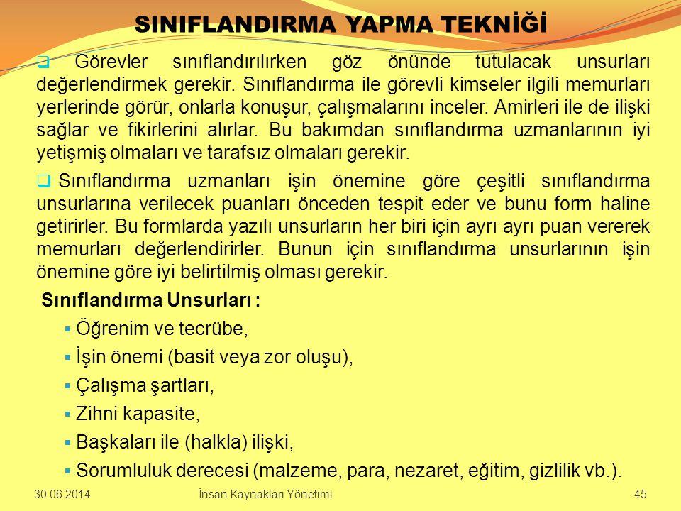SINIFLANDIRMA YAPMA TEKNİĞİ