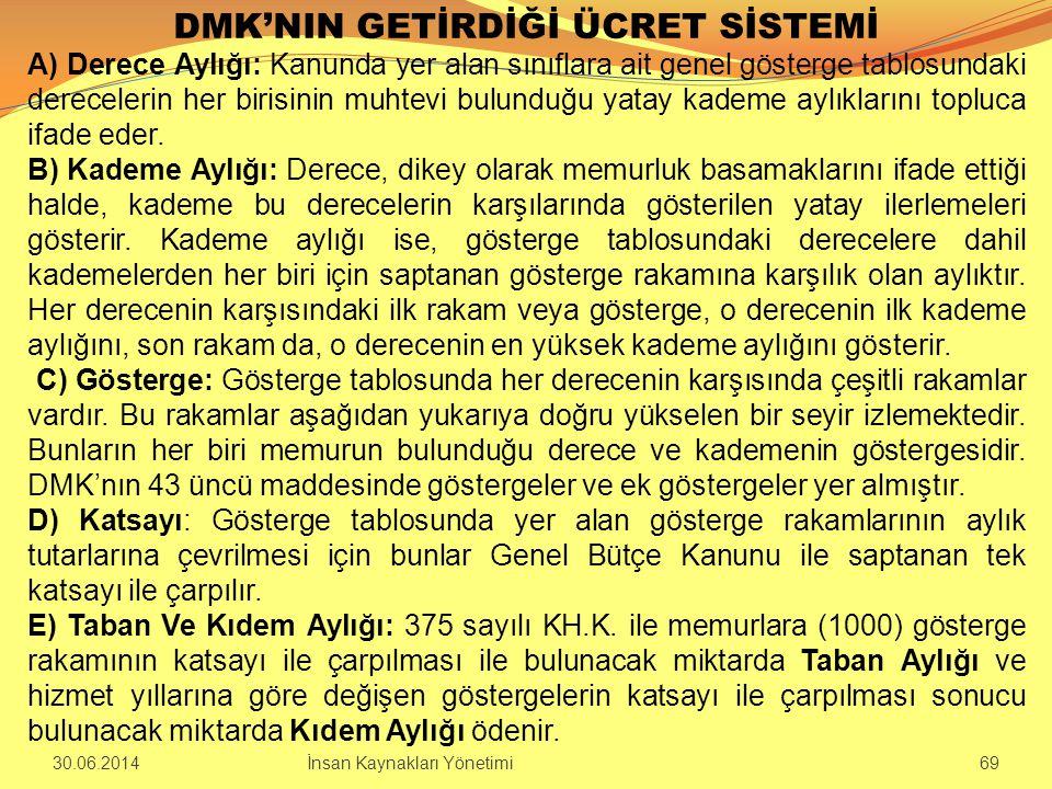 DMK'NIN GETİRDİĞİ ÜCRET SİSTEMİ
