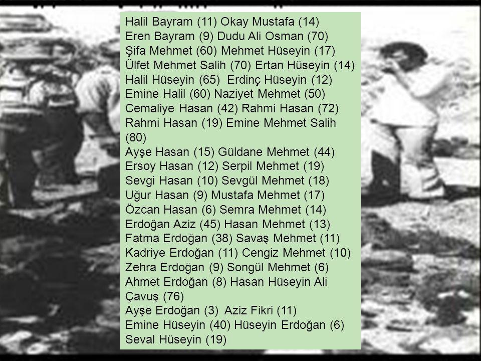 Halil Bayram (11) Okay Mustafa (14)