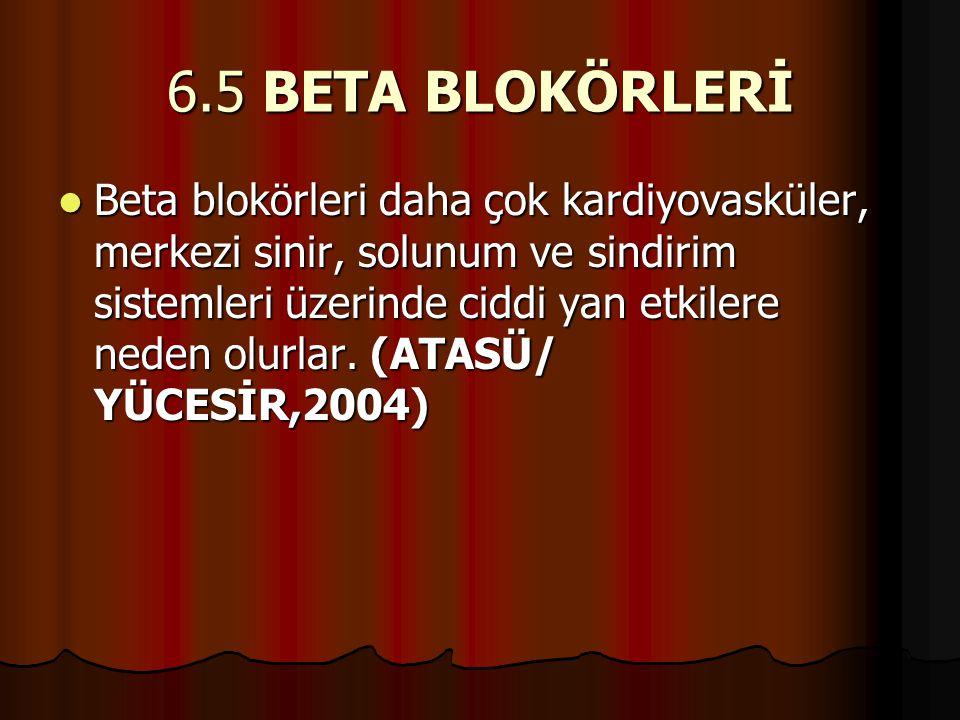 6.5 BETA BLOKÖRLERİ