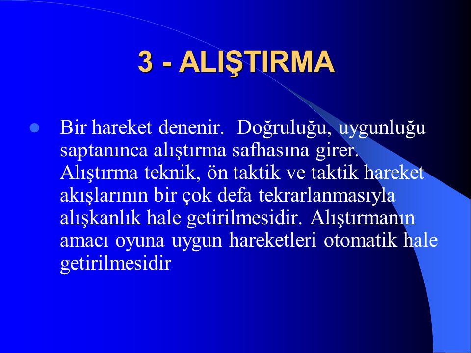 3 - ALIŞTIRMA