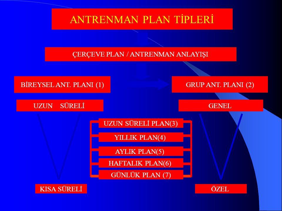 ANTRENMAN PLAN TİPLERİ