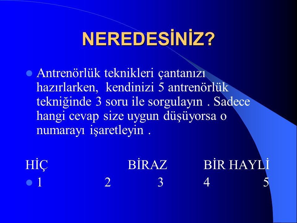 NEREDESİNİZ