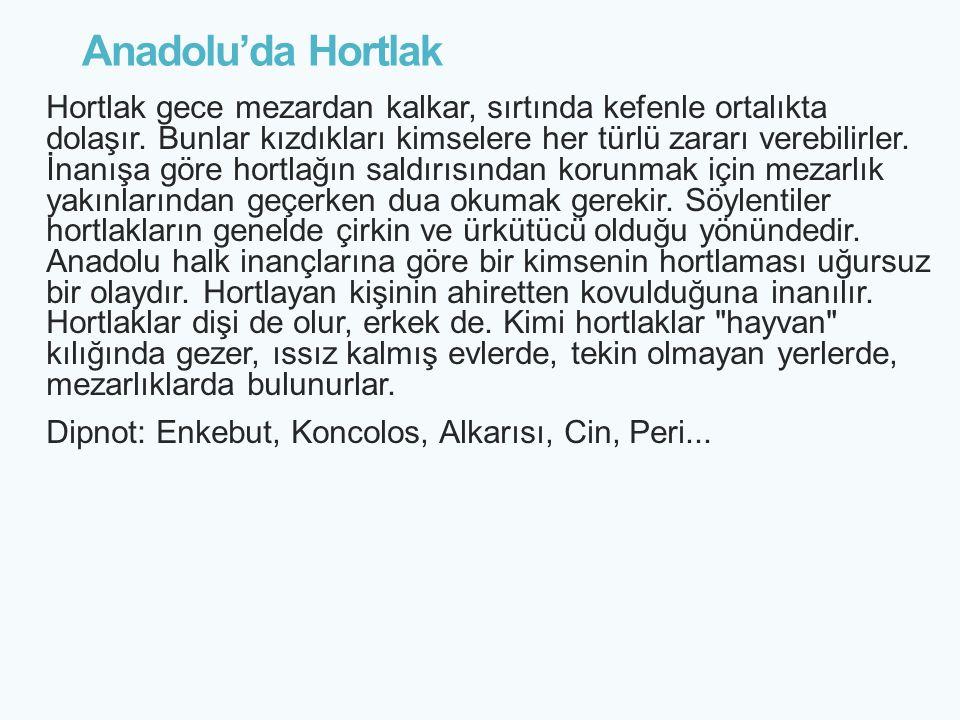 Anadolu'da Hortlak