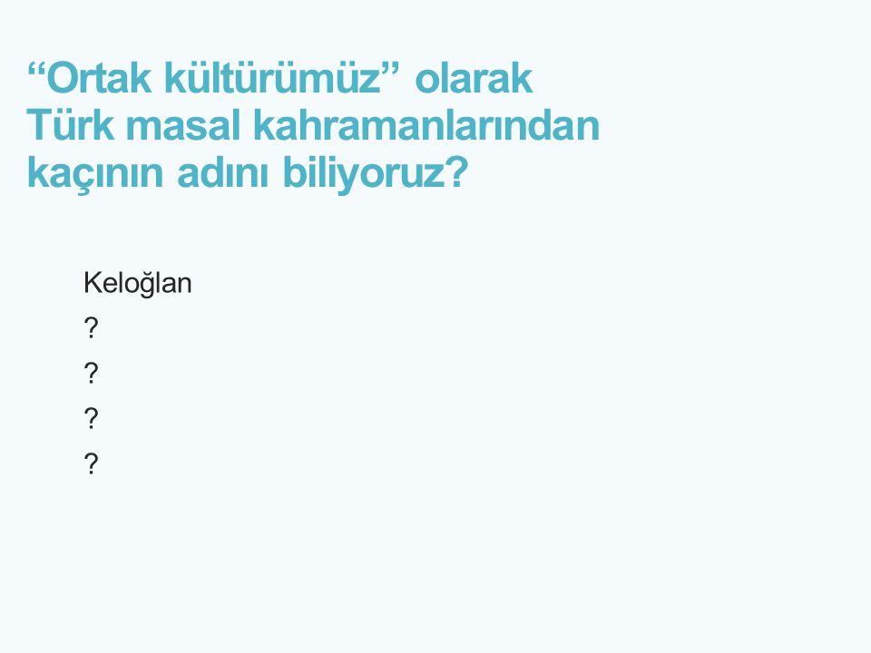 Ortak kültürümüz olarak Türk masal kahramanlarından kaçının adını biliyoruz