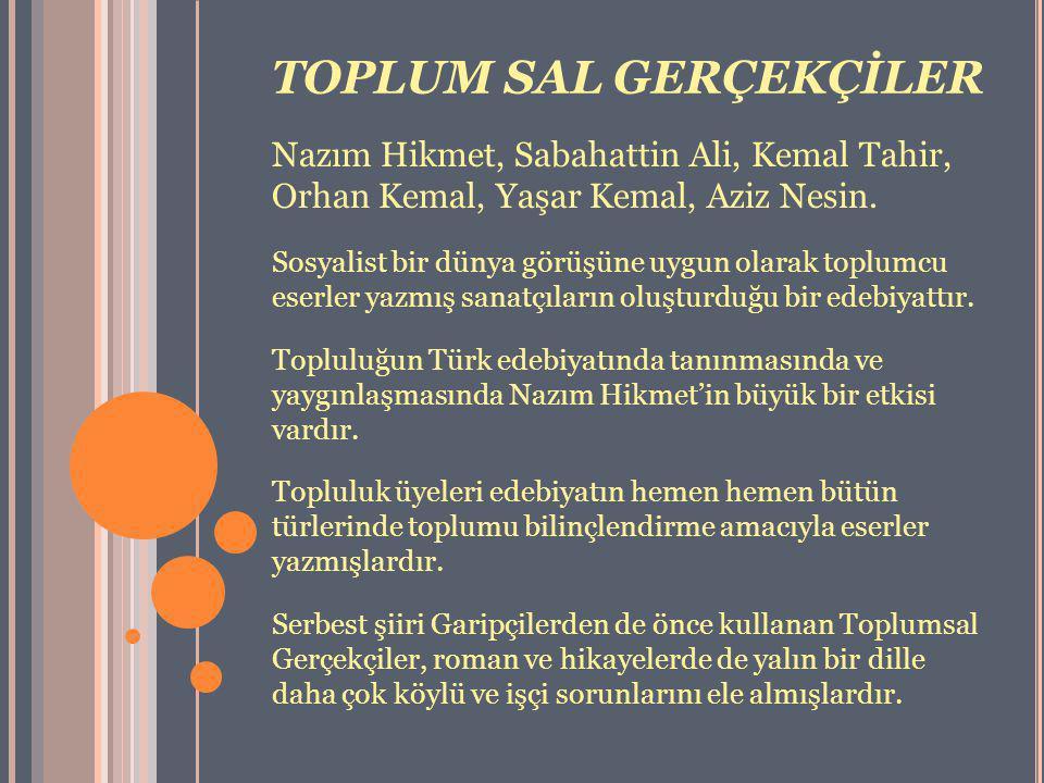 TOPLUM SAL GERÇEKÇİLER
