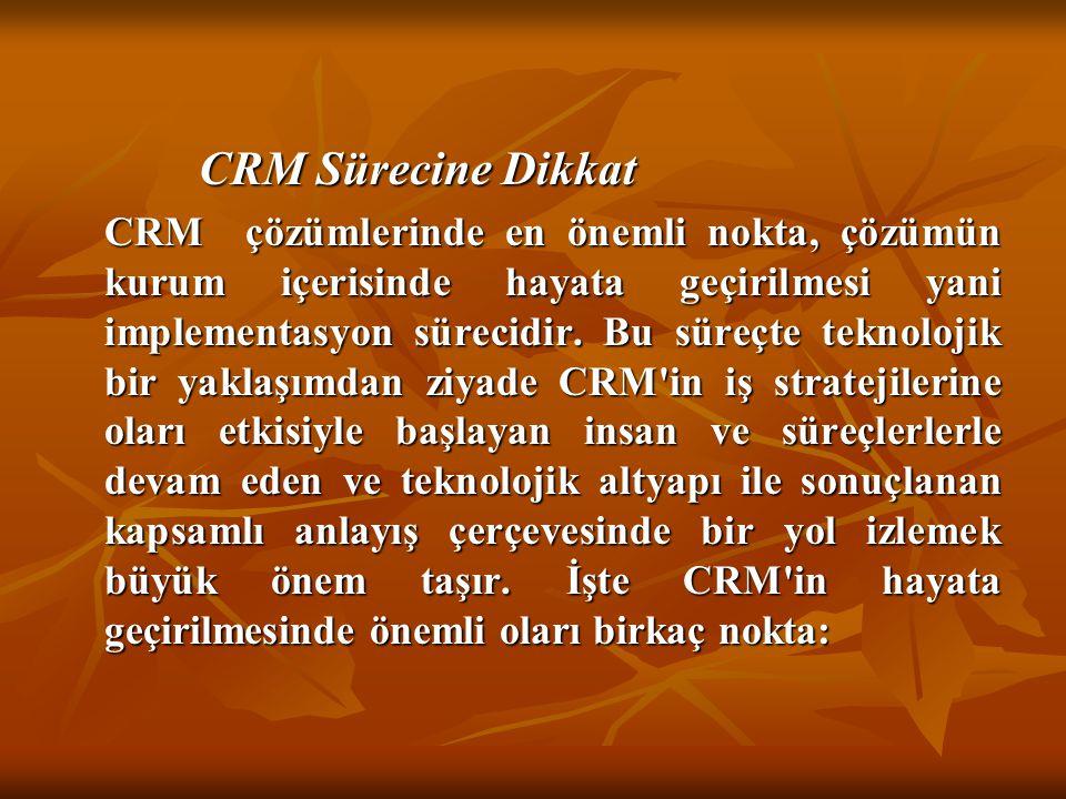 CRM Sürecine Dikkat