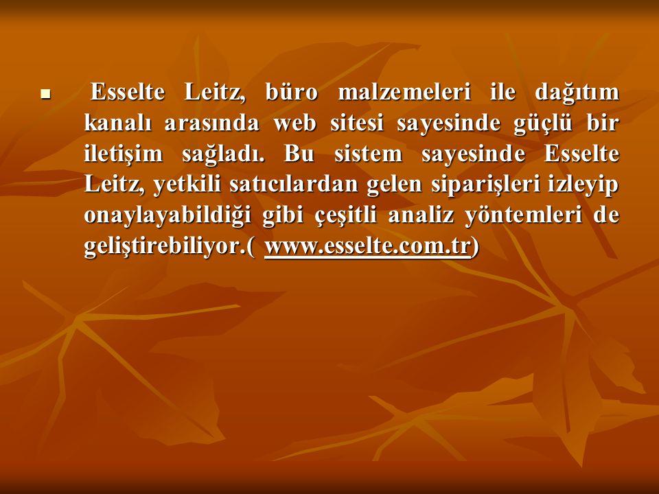 Esselte Leitz, büro malzemeleri ile dağıtım kanalı arasında web sitesi sayesinde güçlü bir iletişim sağladı.