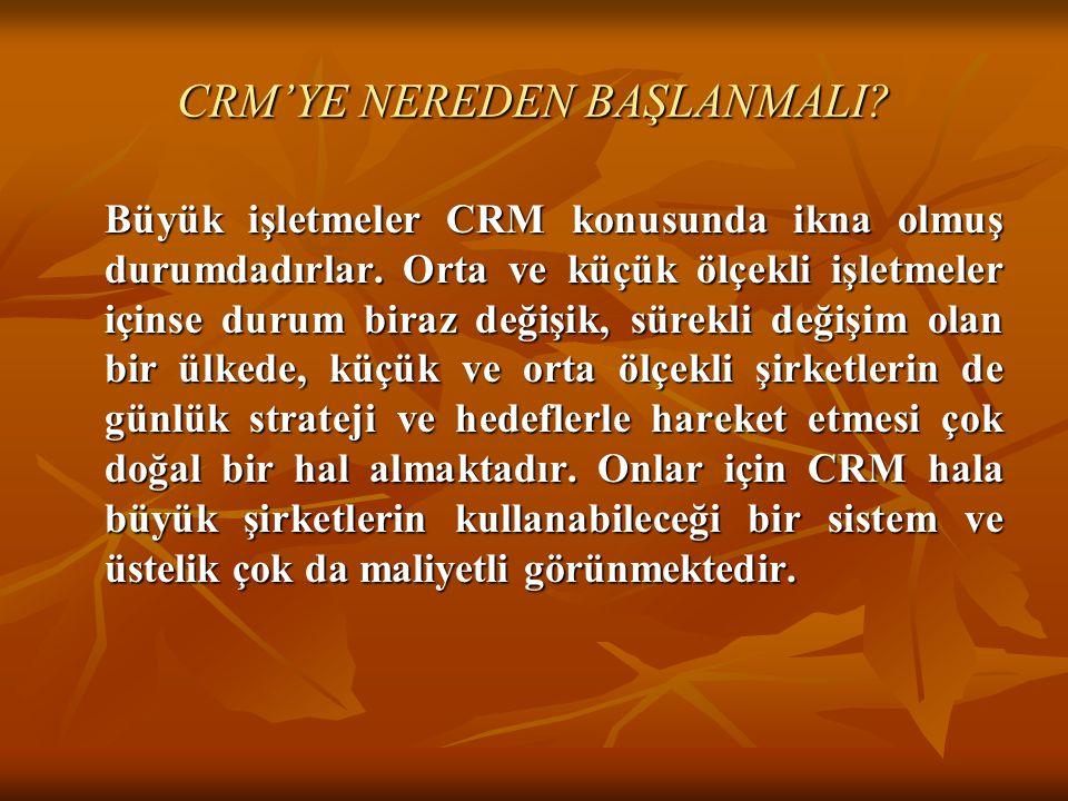 CRM'YE NEREDEN BAŞLANMALI
