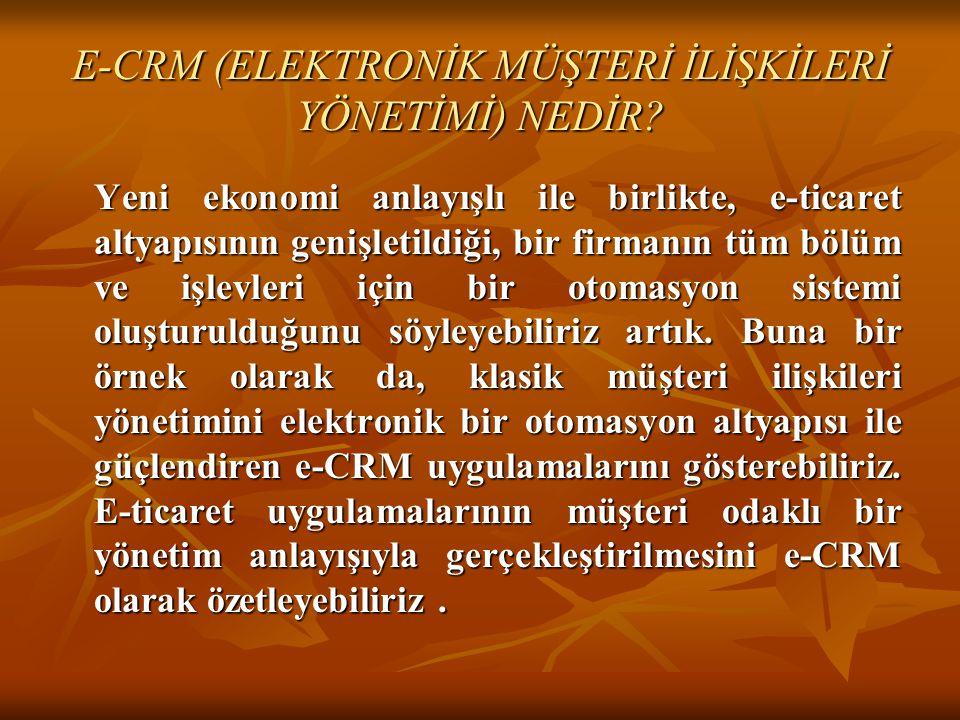 E-CRM (ELEKTRONİK MÜŞTERİ İLİŞKİLERİ YÖNETİMİ) NEDİR