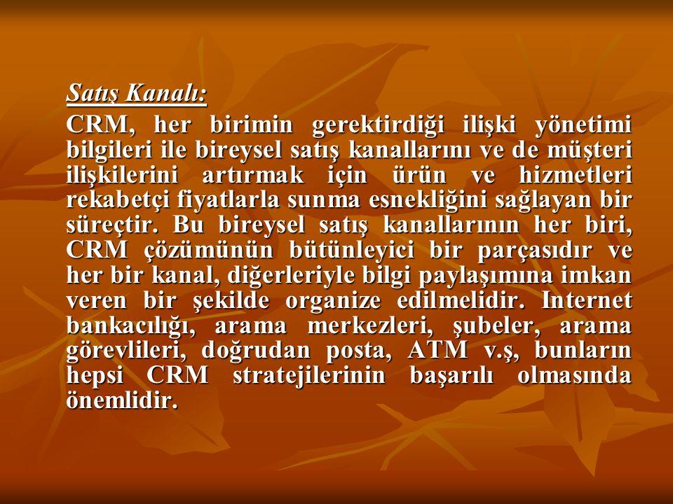Satış Kanalı: