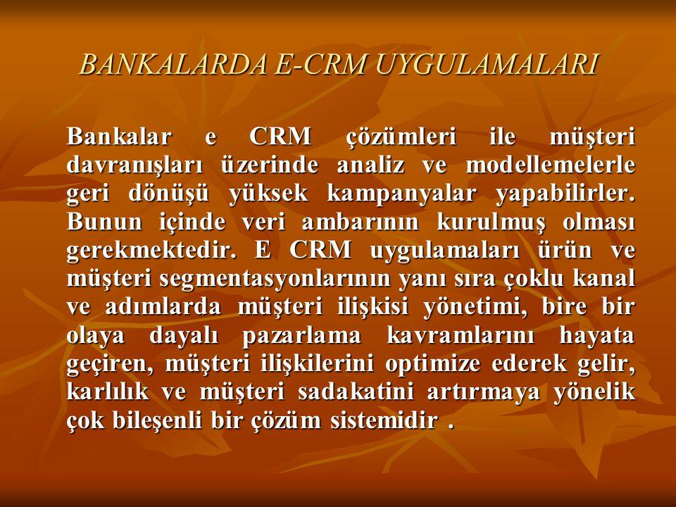 BANKALARDA E-CRM UYGULAMALARI
