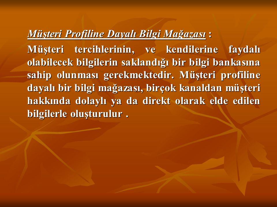 Müşteri Profiline Dayalı Bilgi Mağazası :